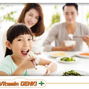 Mẹ Cho Trẻ Sử Dụng Vitamin Genki+ để Giúp Trẻ ăn Ngon, Tiêu Hóa Tốt.